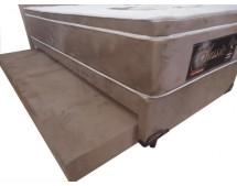Cama box  Solteiro 0,88 x 1,88 x 28 com auxiliar molas ensacadas Classic